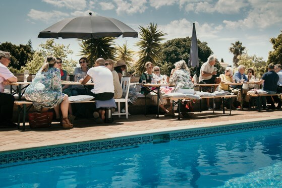 Lunch around the pool at Vale a Pena