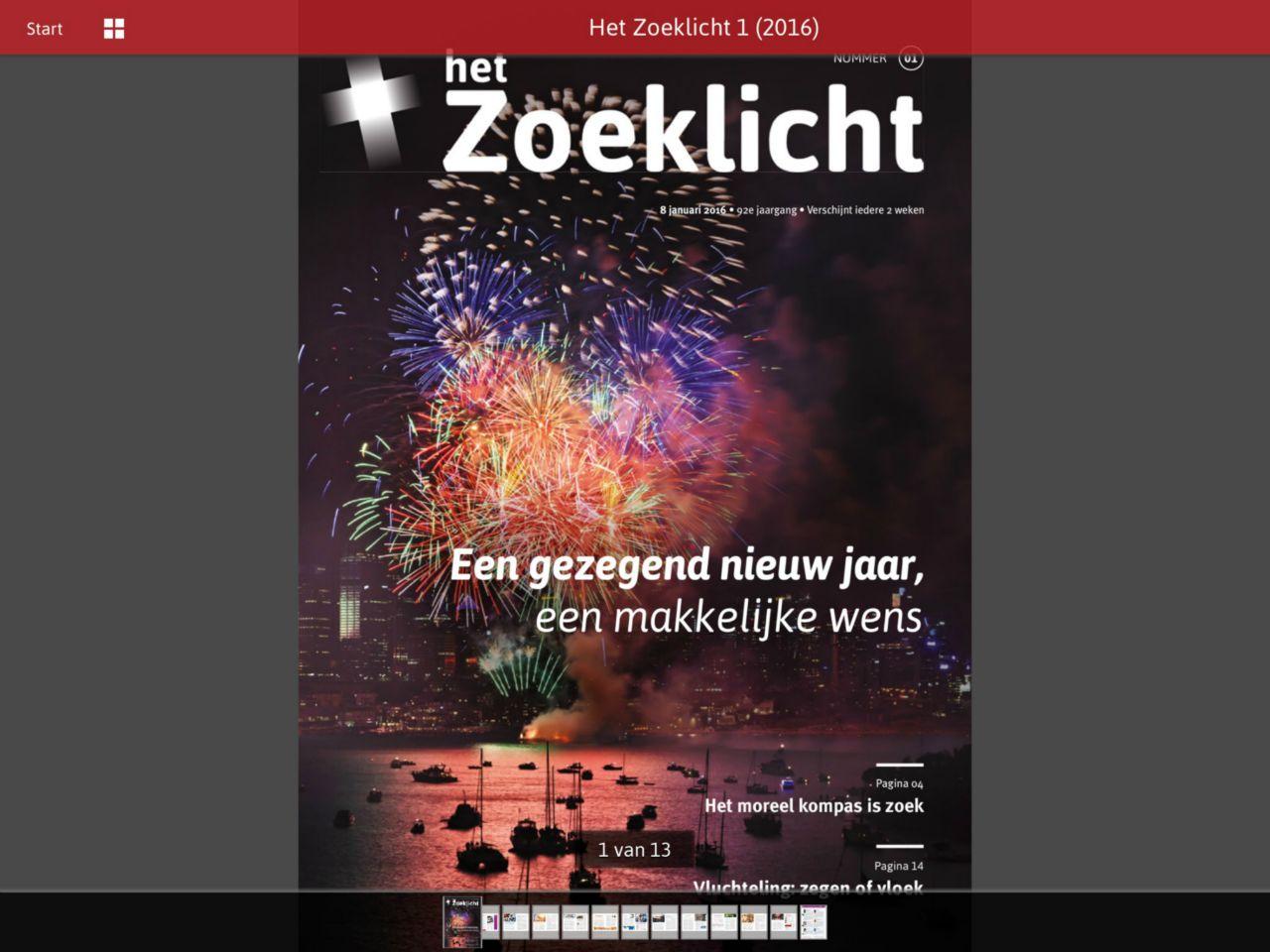 Zoeklicht-app HZ 1