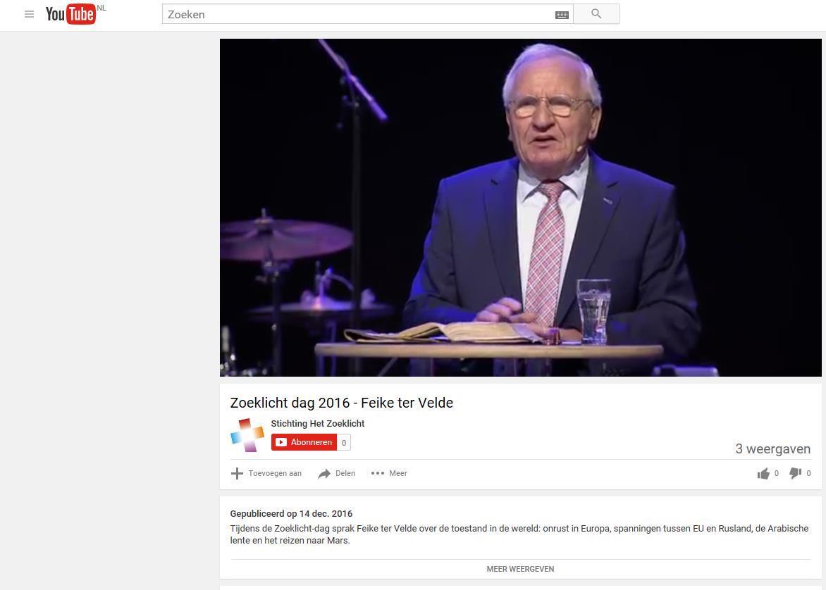 Het Zoeklicht YouTube kanaal